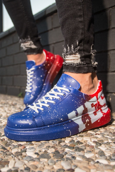 Chekich CH254 BT Men's Shoes 441 BLUE / RED YES